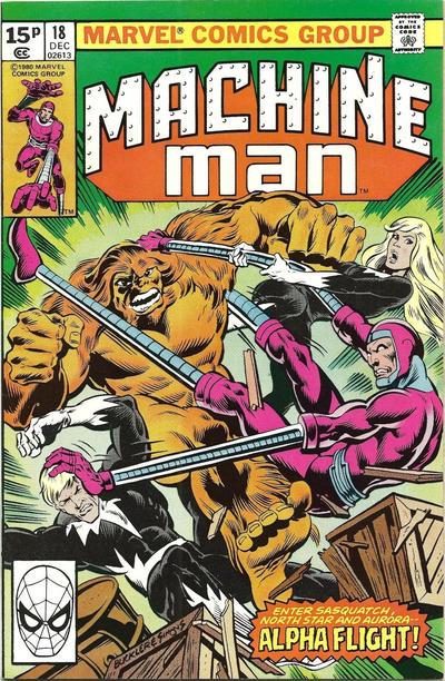 Cover for Machine Man (Marvel, 1978 series) #18 [British]