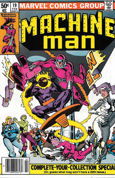 Cover for Machine Man (Marvel, 1978 series) #19 [Direct]