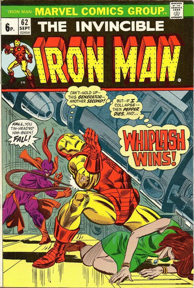 Cover for Iron Man (Marvel, 1968 series) #62 [Regular Edition]