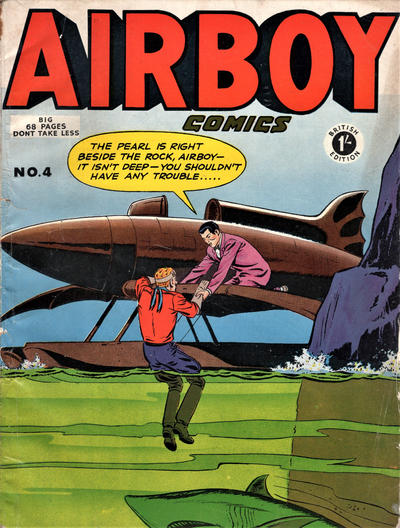 Cover for Airboy Comics (Thorpe & Porter, 1953 series) #4