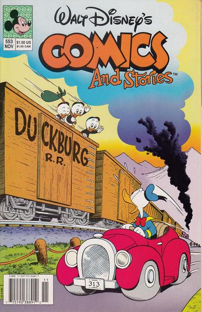 Cover for Walt Disney's Comics and Stories (Disney, 1990 series) #553