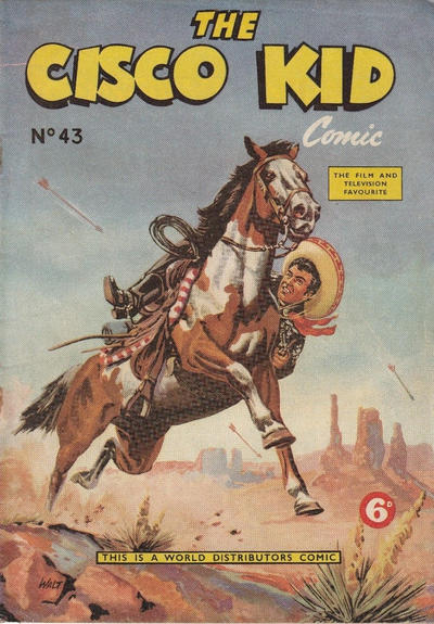 Cover for Cisco Kid (World Distributors, 1952 series) #43