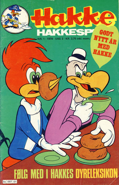 Cover for Hakke Hakkespett (Semic, 1977 series) #1/1978