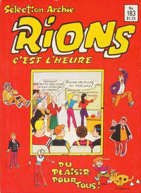 Cover Thumbnail for Sélection Rions C'est L'Heure (Editions Héritage, 1975 ? series) #183