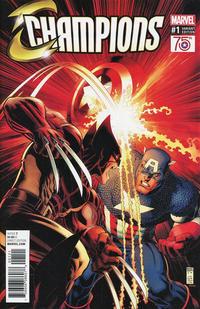 Cover Thumbnail for Champions (Marvel, 2016 series) #1 [Arthur Adams 'Captain America 75th Anniversary' Variant]