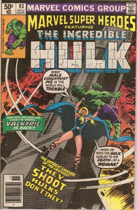 Cover for Marvel Super-Heroes (Marvel, 1967 series) #93 [Direct Edition]