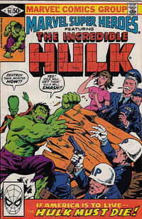Cover for Marvel Super-Heroes (Marvel, 1967 series) #96 [Direct Edition]