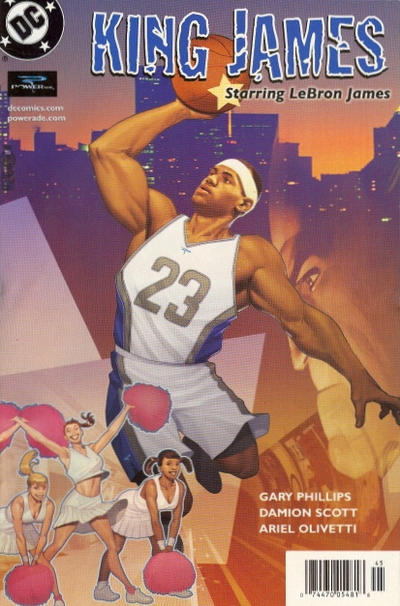 Cover for King James Starring LeBron James (DC, 2004 series)  [With Three Women]