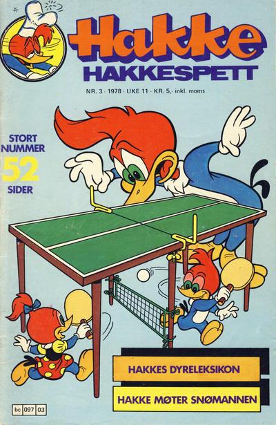 Cover for Hakke Hakkespett (Semic, 1977 series) #3/1978