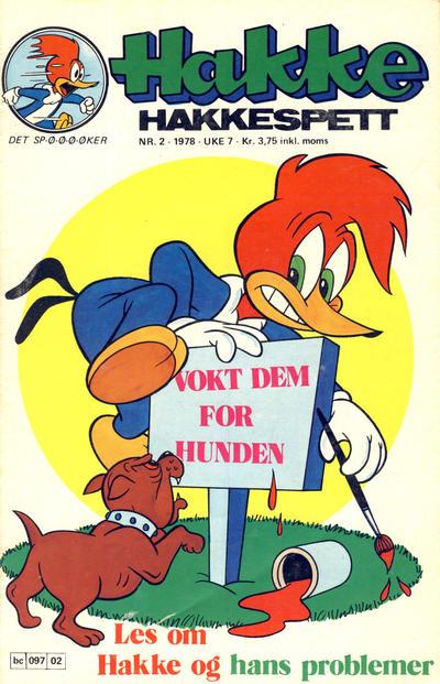 Cover for Hakke Hakkespett (Semic, 1977 series) #2/1978