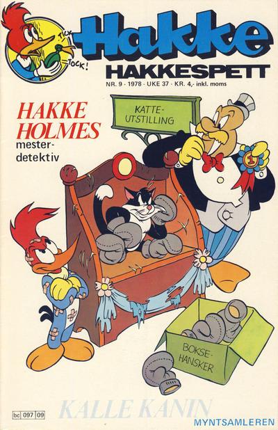 Cover for Hakke Hakkespett (Semic, 1977 series) #9/1978