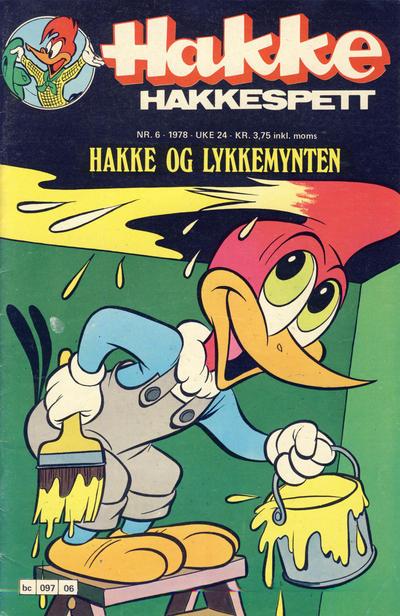 Cover for Hakke Hakkespett (Semic, 1977 series) #6/1978