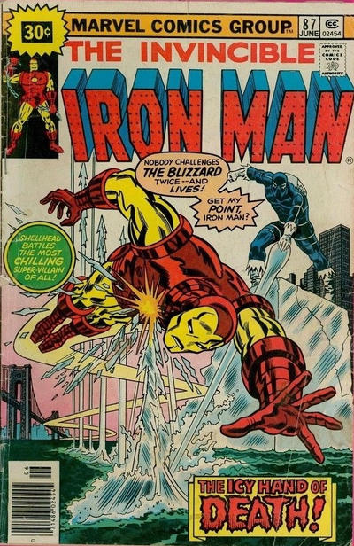 Cover for Iron Man (Marvel, 1968 series) #87 [25¢ Cover Price]