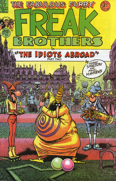 Cover for The Fabulous Furry Freak Brothers (Rip Off Press, 1971 series) #9
