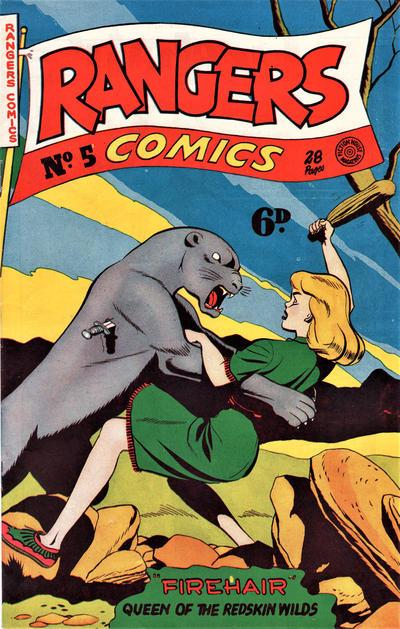 Cover for Rangers Comics (H. John Edwards, 1950 ? series) #5