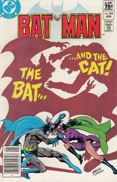 Cover for Batman (DC, 1940 series) #355 [Newsstand]