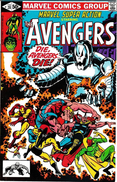 Cover for Marvel Super Action (Marvel, 1977 series) #28 [Direct Edition]