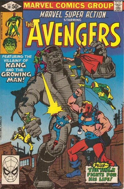 Cover for Marvel Super Action (Marvel, 1977 series) #30 [Direct Edition]