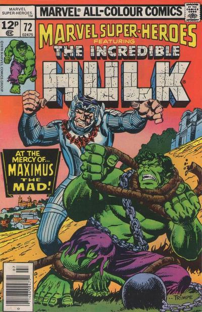 Cover for Marvel Super-Heroes (Marvel, 1967 series) #72 [Regular Edition]