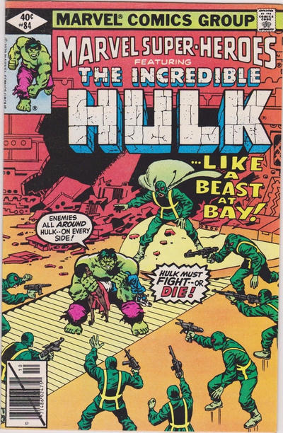 Cover for Marvel Super-Heroes (Marvel, 1967 series) #84 [Direct Edition]