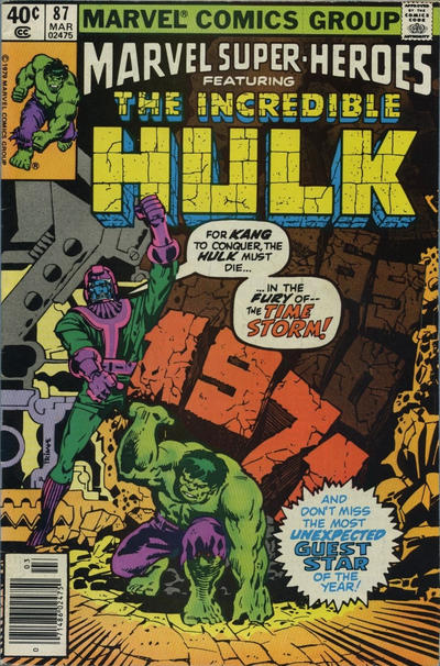 Cover for Marvel Super-Heroes (Marvel, 1967 series) #87 [Direct]