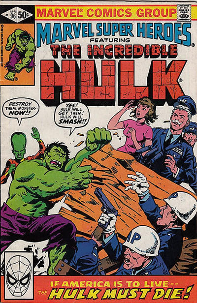 Cover for Marvel Super-Heroes (Marvel, 1967 series) #96 [Direct]