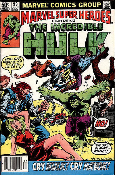 Cover for Marvel Super-Heroes (Marvel, 1967 series) #99 [Direct Edition]
