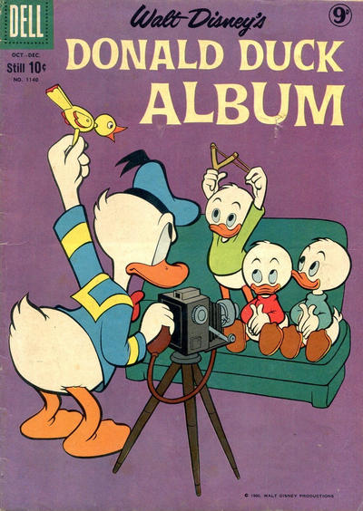 Cover for Four Color (Dell, 1942 series) #1140 - Walt Disney's Donald Duck Album [British]