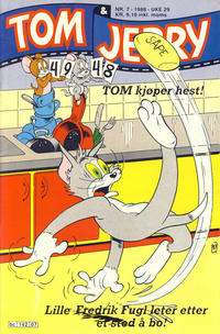 Cover Thumbnail for Tom & Jerry (Semic, 1979 series) #7/1988
