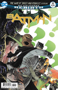 Cover Thumbnail for Batman (DC, 2016 series) #30