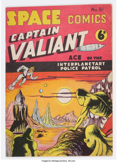 Cover for Space Comics (Arnold Book Company, 1953 series) #81
