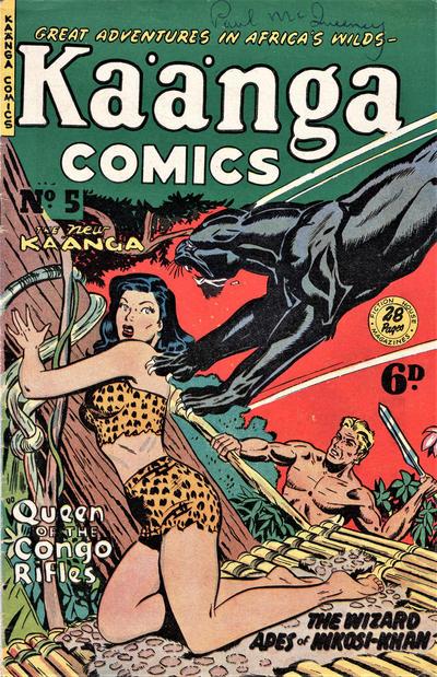 Cover for Kaänga Comics (H. John Edwards, 1950 ? series) #5