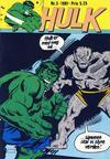 Cover for Hulk (Atlantic Forlag, 1980 series) #3/1981