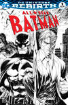Cover Thumbnail for All Star Batman (2016 series) #1 [Midtown Comics Exclusive Tyler Kirkham Black and White Variant]