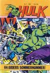 Cover for Hulk (Atlantic Forlag, 1980 series) #7/1982