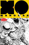 Cover for X-O Manowar (Valiant Entertainment, 2017 series) #1 [Collector's Paradise - Black and White - Nick Bradshaw]