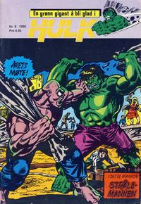 Cover Thumbnail for Hulk (Atlantic Forlag, 1980 series) #8/1980