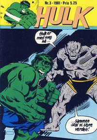 Cover Thumbnail for Hulk (Atlantic Forlag, 1980 series) #3/1981