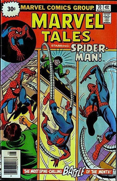 Cover for Marvel Tales (Marvel, 1966 series) #70 [25¢ Cover Price]