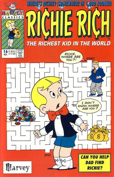 Cover for Richie Rich (Harvey, 1991 series) #16 [Direct]