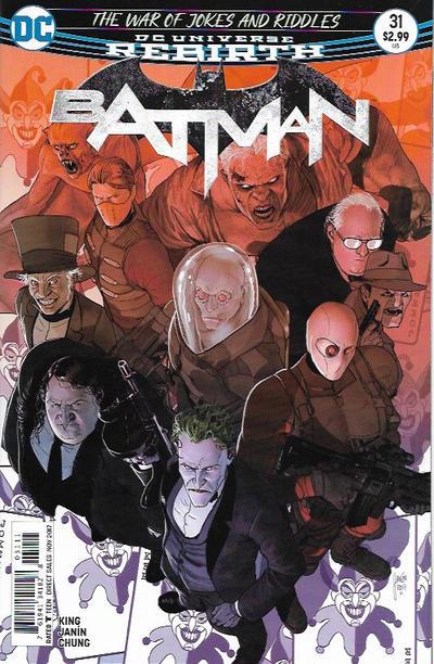 Cover for Batman (DC, 2016 series) #31