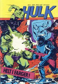 Cover Thumbnail for Hulk (Atlantic Forlag, 1980 series) #6/1984