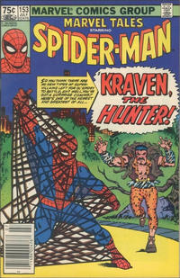 Cover Thumbnail for Marvel Tales (Marvel, 1966 series) #153 [Canadian]