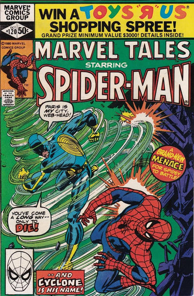 Cover for Marvel Tales (Marvel, 1966 series) #120 [Direct Edition]