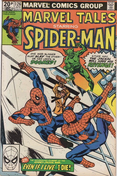 Cover for Marvel Tales (Marvel, 1966 series) #126 [Direct Edition]