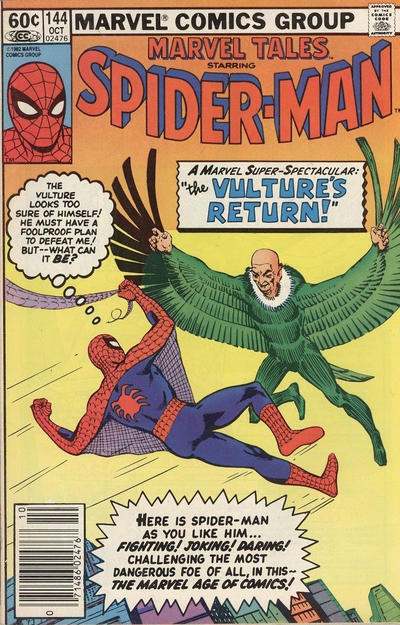 Cover for Marvel Tales (Marvel, 1966 series) #144 [Direct Edition]