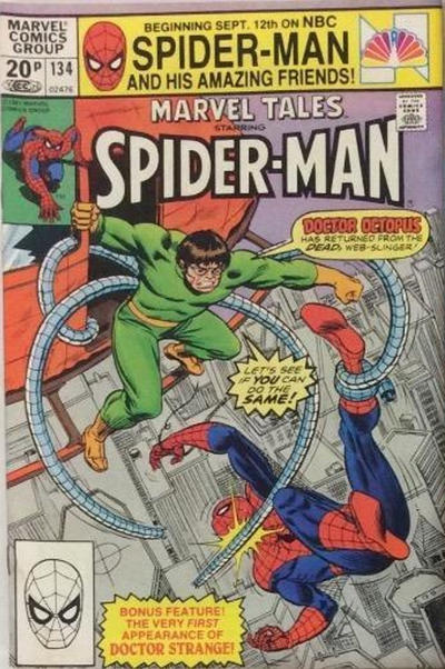 Cover for Marvel Tales (Marvel, 1966 series) #134 [Direct Edition]