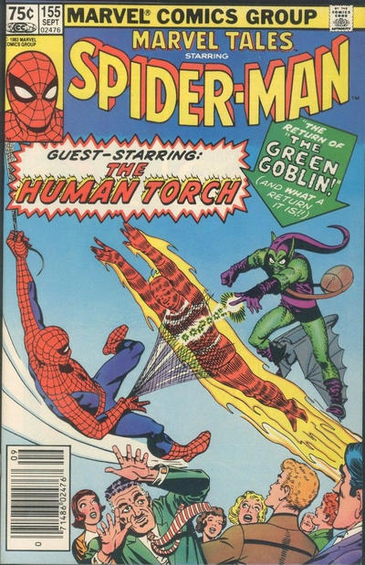 Cover for Marvel Tales (Marvel, 1966 series) #155 [Newsstand]