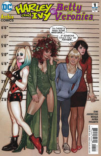 Cover Thumbnail for Harley & Ivy Meet Betty & Veronica (DC, 2017 series) #1 [Adam Hughes Cover]
