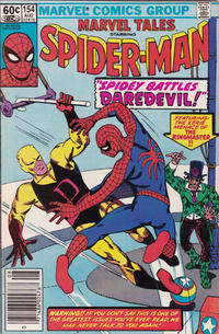 Cover Thumbnail for Marvel Tales (Marvel, 1966 series) #154 [Newsstand Edition]
